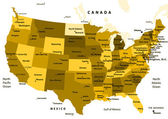United States map vector - ocher — Stockvektor