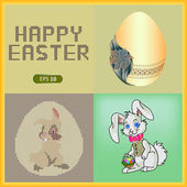 Happy easter cards illustration — Stockvektor
