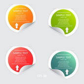 Colorful banner template for different business design — Stock Vector