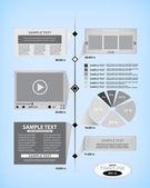 Timeline design template — Vector de stock