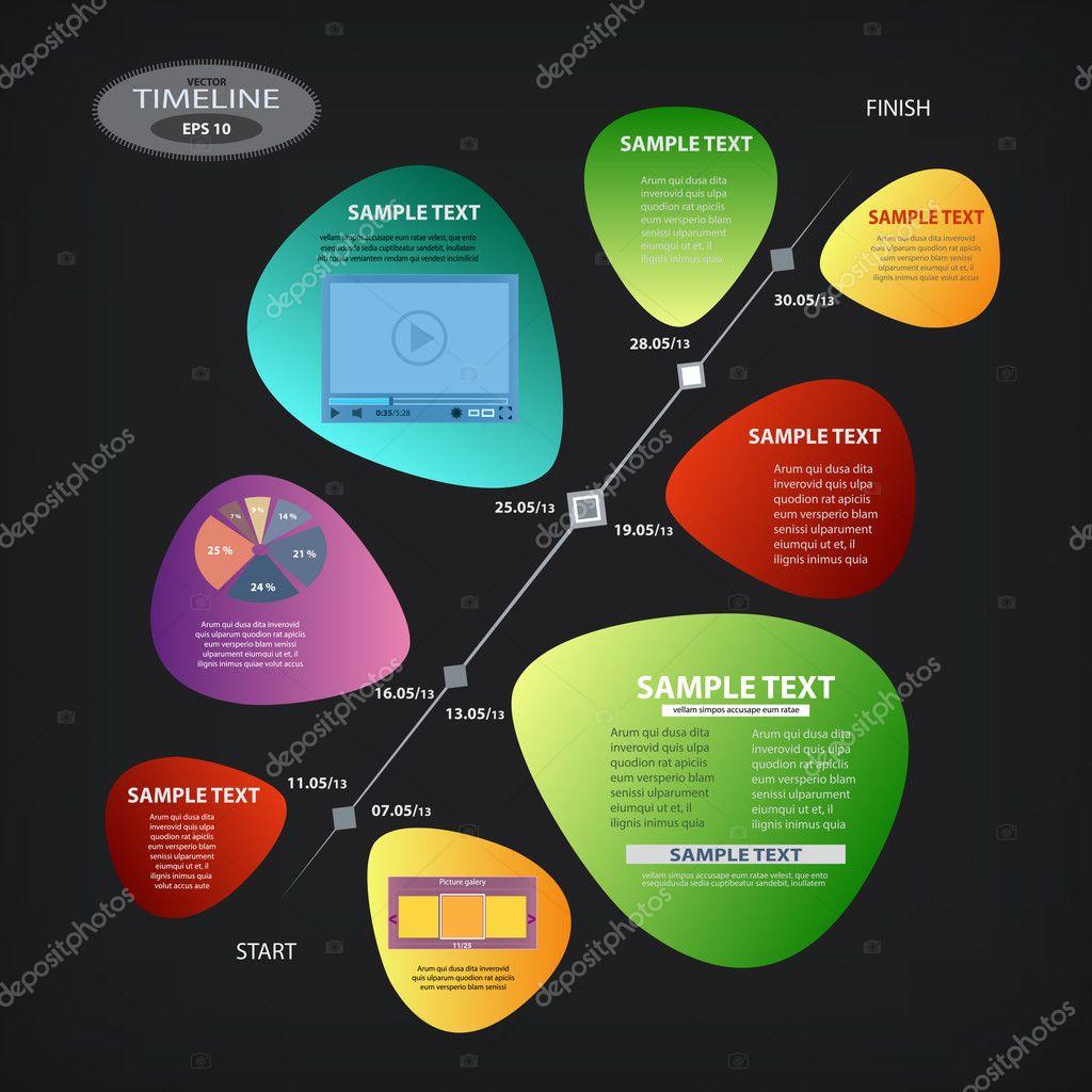 时间轴矢量设计模板