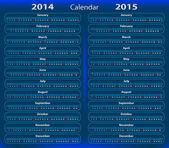 Calendar 2014-2015 — Stock Vector