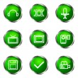 Glossy icon set — Stock Vector #10629983