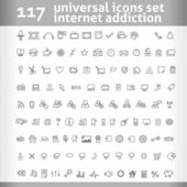 117 Universal Icons Set. Vector Collection — Stock Vector