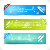 Color Banner. Abstract Design Template — Stock Vector