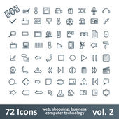72 Icons — Stock Vector