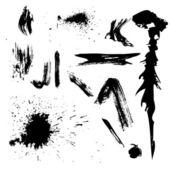 Grunge grafikelemente sammlung — Stockvektor