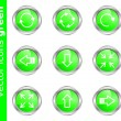 Vector icons green — Stock Vector