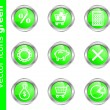 Stock Vector: Vector icons green
