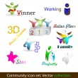 Royalty-Free Stock Imagen vectorial: Community pack