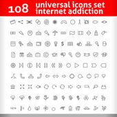 Universal Icons Set. Second Vector Collection — Stock Vector