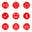 Glossy icons set — Stock Vector #16581631