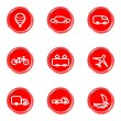 Glossy icons set — Stock Vector #16581741