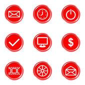 глянцевая иконы set — Cтоковый вектор