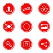 Royalty-Free Stock Vektorfiler: Glossy icons set