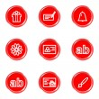 Royalty-Free Stock Vector Image: Glossy icons set