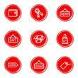 Glossy icons set — Stock vektor