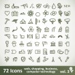 Green large Icons Set. Vector Collection — Stock Vector
