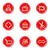 Glossy icons set — Stock Vector