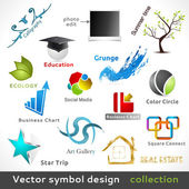 Vector Color Symbol Design — Stock Vector