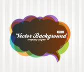 Speech Bubble Background — Stock Vector