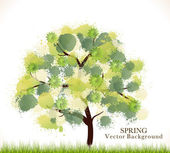 Spring Abstract Vector Background — Stock Vector