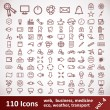 Stock Vector: Icons. Large set. 110 Items