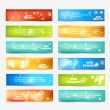 Set of Color Banner — Stock Vector
