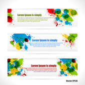 Color web Banners — Stock Vector