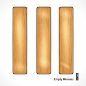 Wooden Eco Banner — Stock Vector