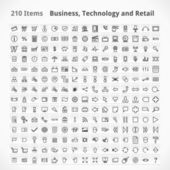 Business, Technology and Retail Items — Stock Vector