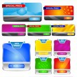 banners para web design — Vetorial Stock