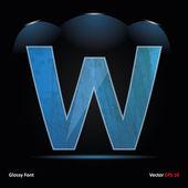 Glossy Grunge Font. Letter — Stock Vector