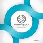 Globe Infographic Design — Stock Vector