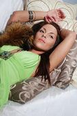 Sensuell eleganta ung dam — Stockfoto