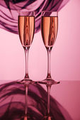Pair glass of champagne — Stock Photo