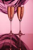 Coupe de la paire de champagne — Photo