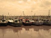 Fishing Boats on Harbor — Stock Photo
