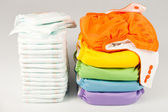 Eco friendly diapers and pampers — Stock Photo