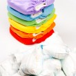 Eco friendly diapers and dirty pampers — Stock Photo #45736017