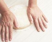 Kneading dough — Photo