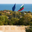 VARNA, BULGARIA.European Union and Bulgaria alliance,flags — Stock Photo