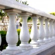 Close Up of Stone White Banister - Stock Photo