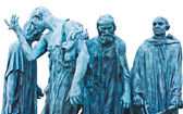 The Burghers of Calais Les Bourgeois de Calais , one of the most famous sculptures by Auguste Rodin — Stock Photo