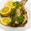 Grilled Fish with Lemon — ストック写真