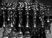 Several hookahs lined up — Stock Photo
