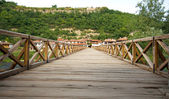Wooden bridge. — Stock Photo