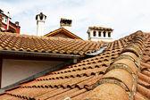 Roofs, flues. — Stock Photo