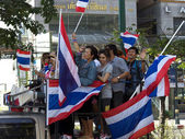 Political Protests In Bangkok, Thailand — Stock Photo