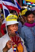 Political Protests In Bangkok, Thailand — Stock Photo